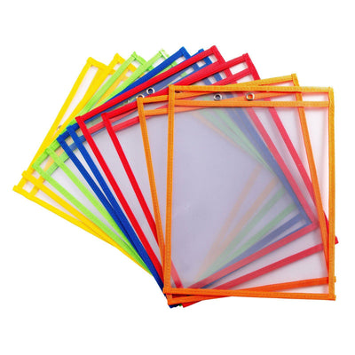 Dry Erase Pockets, 10 Pack