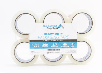 Heavy Duty Packaging Tape, 6 Pack Tape Blue Summit Supplies