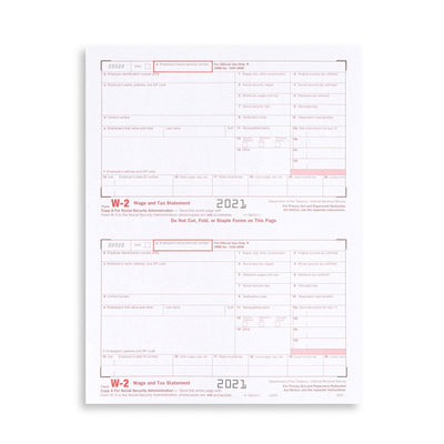 W2 4 Part 2020 Tax Forms Bundle with Self Seal Envelopes, 25 Count Tax Forms Blue Summit Supplies