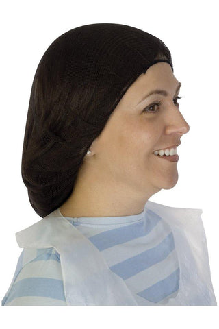 Nylon Hairnet Black Honeycomb 21 1/8 Pattern - 1000/case
