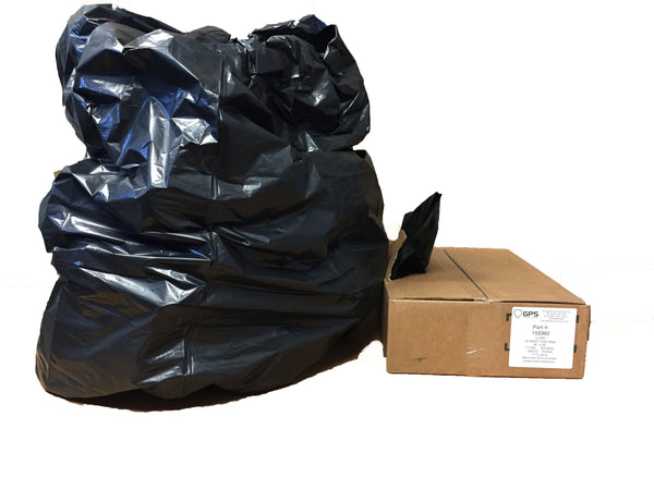 55 Gallon Trash Bags, Black, 22