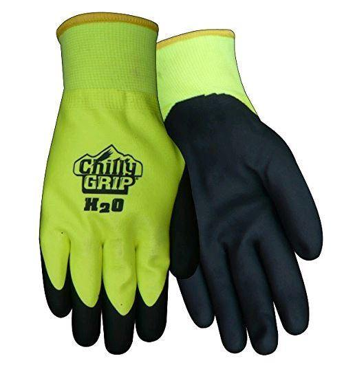 Chilly Grip H2O Waterproof Thermal Lined, Hi-Vis Gloves, Sizes M-XXL