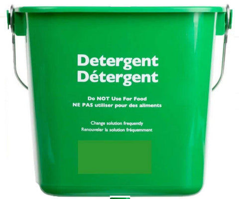 Detergent Bucket Green, 6 Qt., Food Service Safety