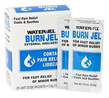 Water Jel Burn Jel, For Fast Relief of Minor Burns, 3.5gm, 25 Per Box