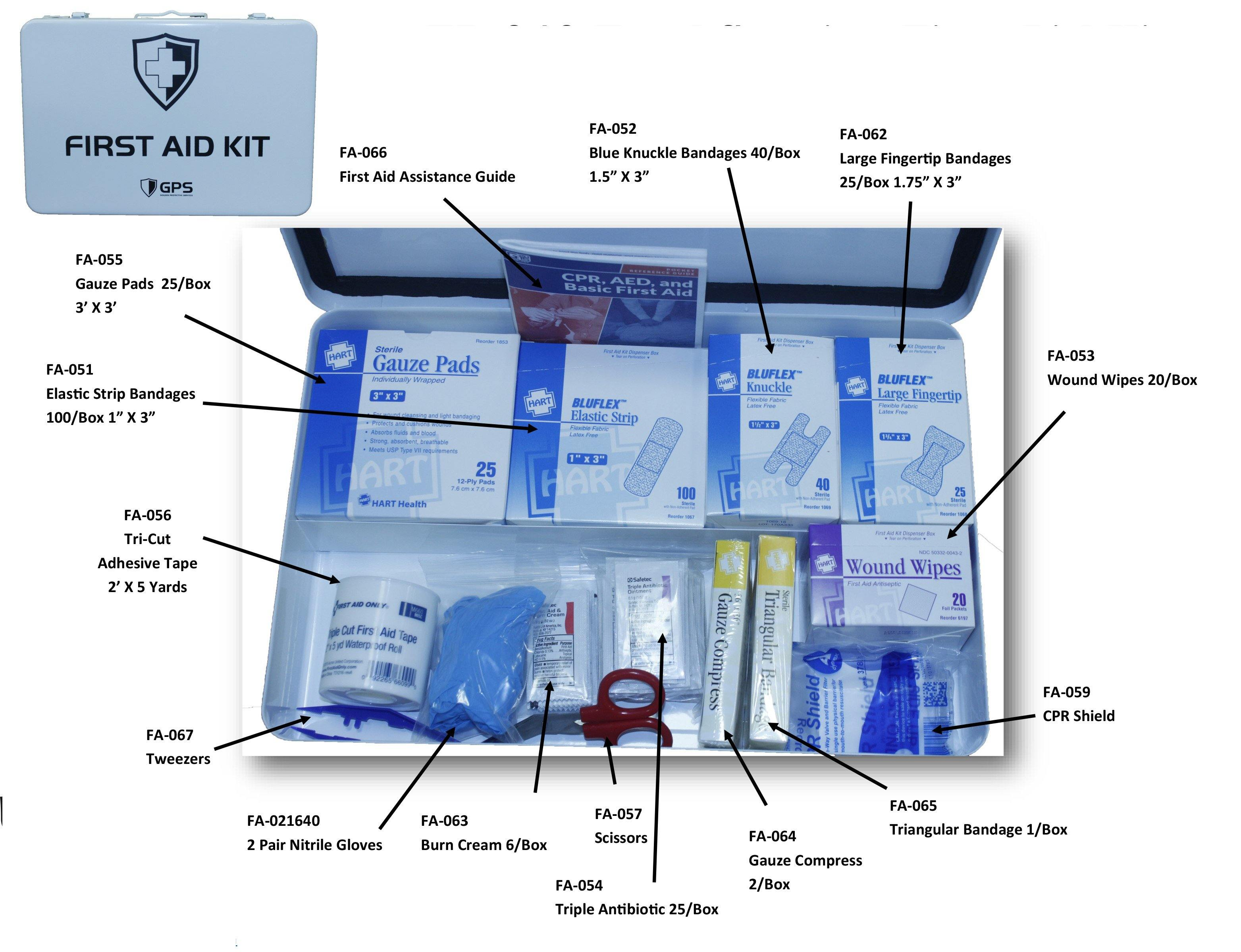 GPS Complete First Aid Kit | GPS Gloves
