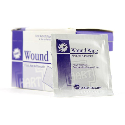 Antiseptic Individual Towelettes, Wound Wipes, 20 Per Box