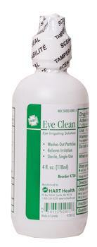 Eye Clean, sterile irrigating solution, 4 ounce screw cap top, sold by each