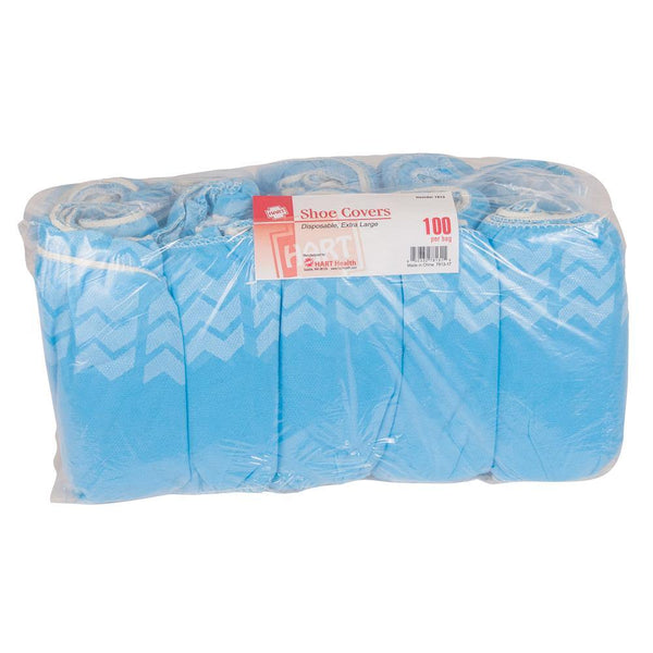 Blue Shoe Covers. Disposable, Extra Large, 50 Pairs Per Bag