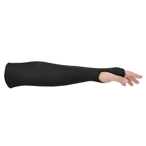 Kevlar® Cut Resistant Sleeve with Thumbslot, Thermal Protection, Sold By Each, Black