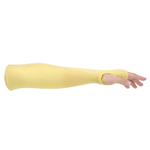 Kevlar® Cut Resistant Sleeve with Thumbslot, Thermal Protection, Sold By Each, Yellow