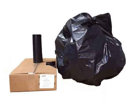 40-45 Gallon Black Trash Bags, 40