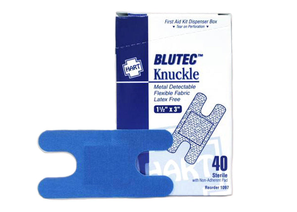 Knuckle Bandage, Blue Metal Detectable, 1 1/2