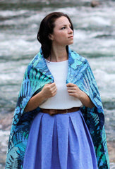 noctua silk scarf, cascading rivers, valley record