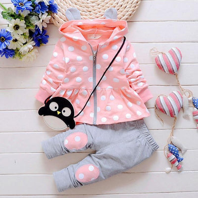 Polka Dot Hooded Jacket & Pants