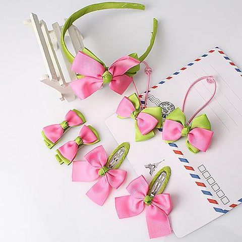 Baby Girls Bow Hair clip Set