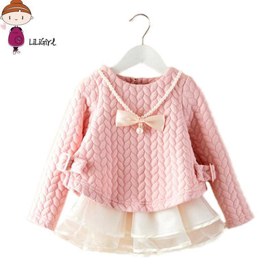 Elegant Princess Dress & Sweater