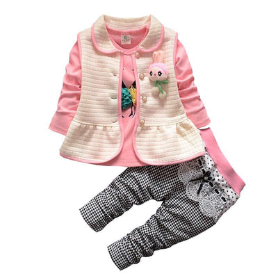 Adorable 3 Piece Baby Girl Outfit