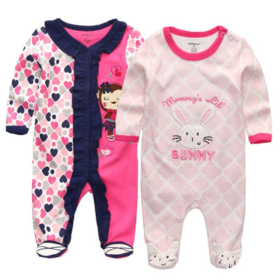 2 Piece Long Sleeve Jumpsuits With Feet