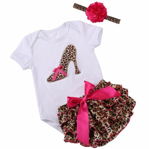 Leopard Print Baby Clothes - Skirt & Onesie Outfit