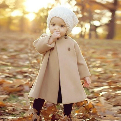 Warm Button Khaki Coat