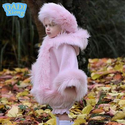 Fluffy Pink Cape Coat