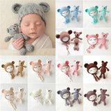 Baby beanies and teddies come in a wide arrange of colors