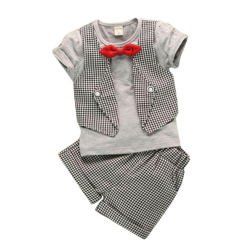 Baby Boy Bow Tie & Vest Suit