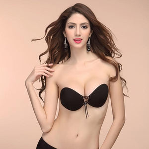 Backless, Strapless, Push-up, Stick-on | Round Style Bra - ShopCleavageCouture