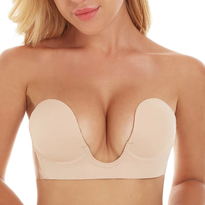 CleavagePlunge®  Backless, Strapless, Push-up, Stick-on Bra