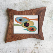 Handcrafted Atomic Star Picture Frame Solild Walnut