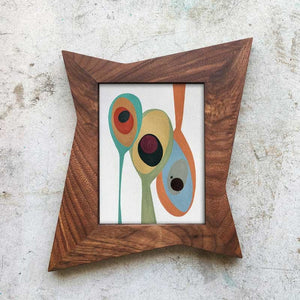 Atomic Star Picture Frame - Atomic Walnut