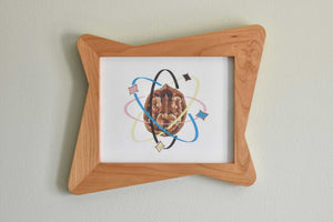 Atomic Hour Glass Picture Frame - Atomic Walnut