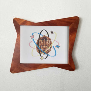 Mahogany Atomic Hour Glass Picture Frame - Atomic Walnut