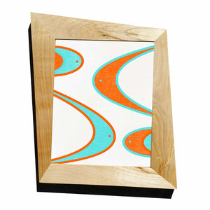 Maple Trapezoid Picture Frame