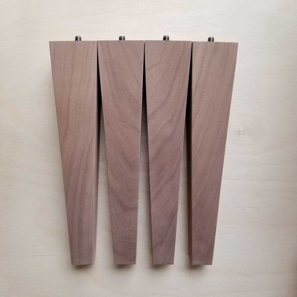 Square Tapered Table Legs Sold Individually - Atomic Walnut