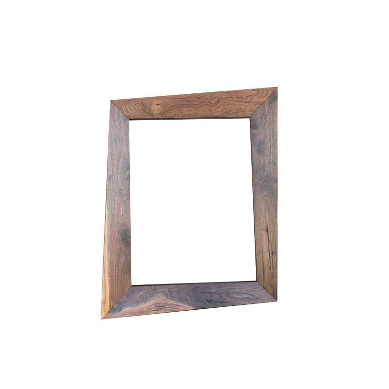 Forced Perspective Trapezoid Picture Frame - Atomic Walnut