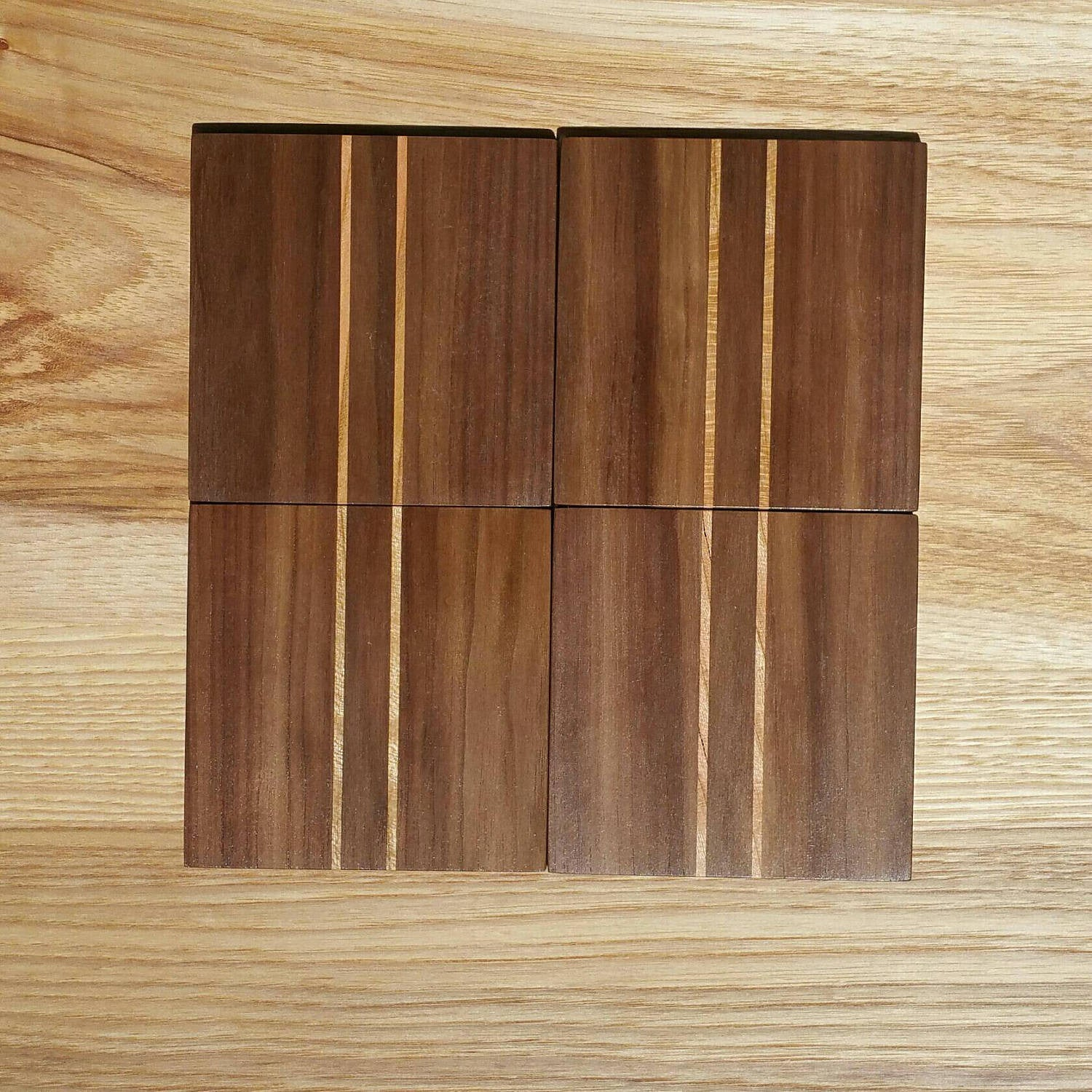 Mid Century Coaster Set - Atomic Walnut