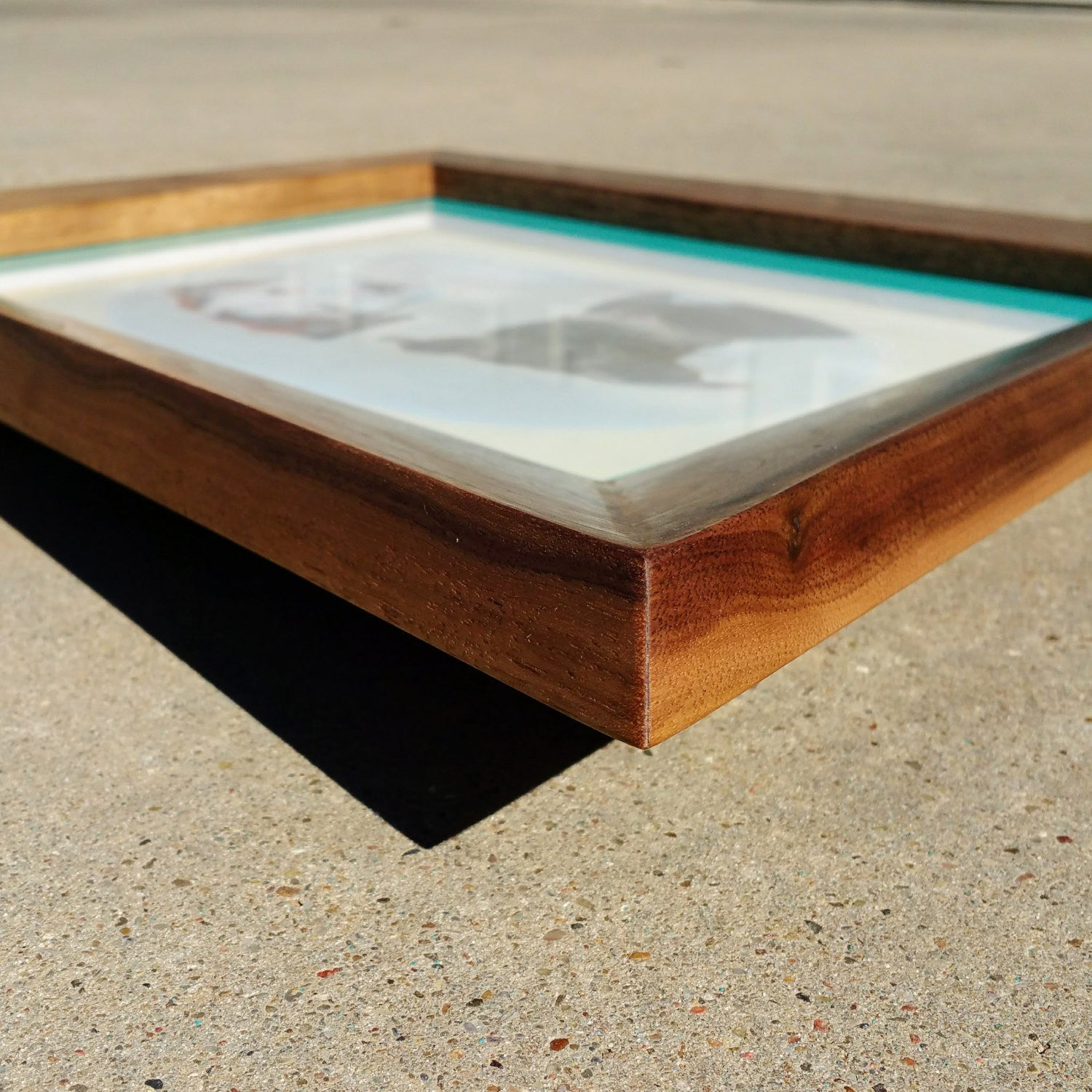 Cat Eye Picture Frame - Atomic Walnut
