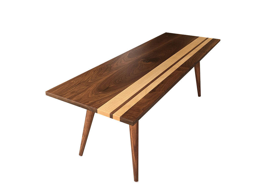 Striped Mid Century Modern Coffee Table