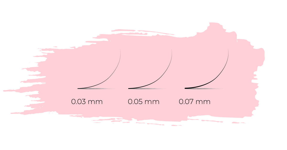 comparing 0.03 mm, 0.05 mm, 0.07 mm