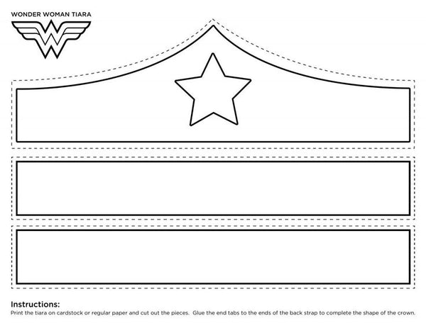 wonder woman tiara DIY