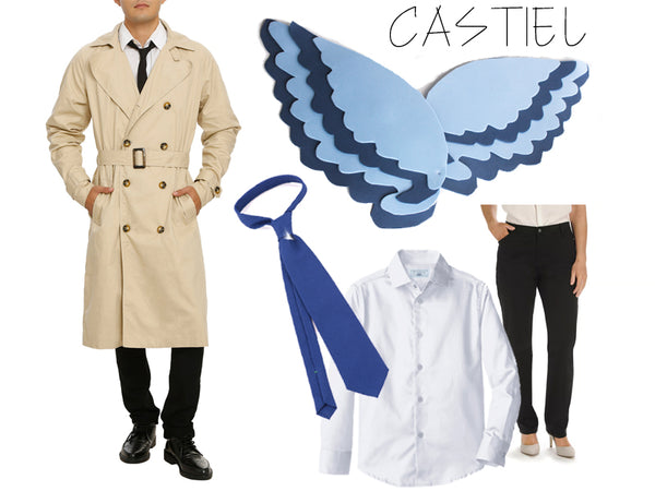 easy Castiel angel halloween costume