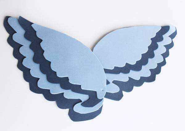 easy Castiel angel wing tutorial