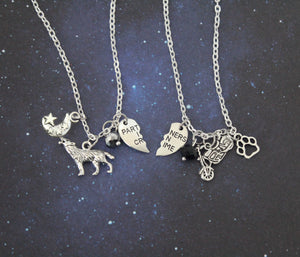Sirius and Remus Wolfstar BFF Necklace Set