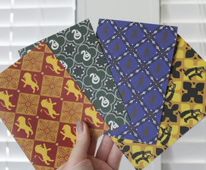 Hogwarts House Greeting Cards