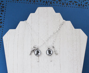 John and Sherlock Necklace Set