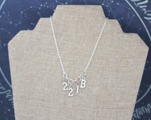 221B Sherlock Charm Necklace