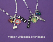 "Thor and Loki ""Get Help"" Friendship Necklace Set"