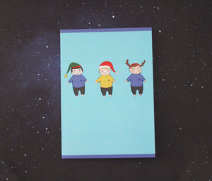 Star Trek Trio Holiday Card