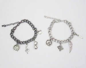 Aziraphale and Crowley Charm Bracelet